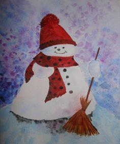 Bonhomme de neige - 18*25 cm.