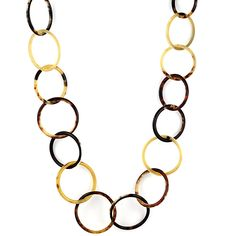 Elbeto Horn long necklace in round links