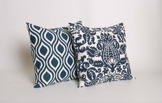 PICK 2 Navy Throw Pillow Covers 22 2018 16 by DimensionsHomeDecor