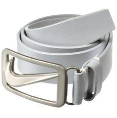 White Nike golf belt
