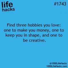 What are your 3 hobbies?