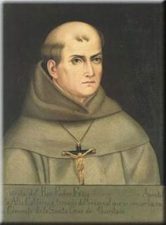 Bl. Junipero Serra, Spanish Franciscan friar who founded the first nine of 21 Spanish missions in California from San Diego to San Francisco, At the age of thirty-seven, he landed in Mexico City on January 1, 1750, and spent the rest of his life working for the conversion of the peoples of the New World