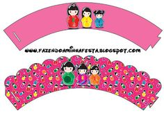 Making My Party! Party Printables, Free Printables, Cupcake Wraps, Kokeshi Dolls, I Party, Party Themes, Outdoor Blanket, Symbols, Html