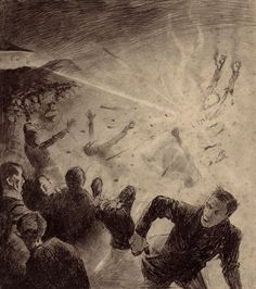Henrique Alvim Correa, 1906, Original War Of The World Drawings Expected To Fetch Huge Sum At Auction