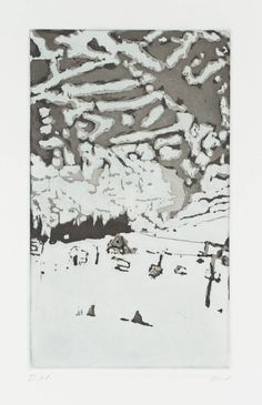 Peter Doig, [no title], 1997, etching on paper © Peter Doig