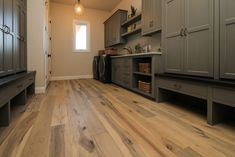 Maple Hardwood Laundry Room Floor Modern Style Homes, Hardwood Floors, Flooring, Laundry Rooms, Kitchen Cabinets, Rustic, Home Decor, Wood Floor Tiles, Country Primitive