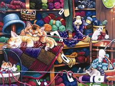 Midnight At The Yarn Shop (475 pieces)