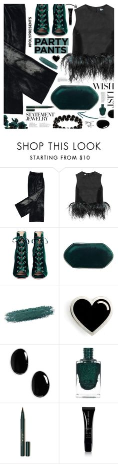 """PolyPresents"" by tinkabella222 ❤ liked on Polyvore featuring Prada, Gianvito Rossi, Hunting Season, By Terry, Sophie Buhai, Stila, Giorgio Armani, Belk & Co., WishList and statementjewelry"
