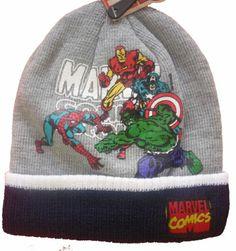 Official SuperHeroes Marvel Grey Beanie: Hulk, Spiderman, Captain America & Iron Man Marvel Comics SuperHeroes Licensed Merchandise,http://www.amazon.com/dp/B00GVGJVSE/ref=cm_sw_r_pi_dp_2aU6sb0S31046CGJ