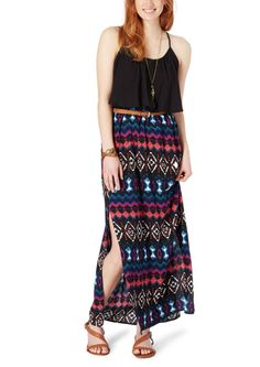 Abstract Belted Maxi Dress | Maxi | rue21