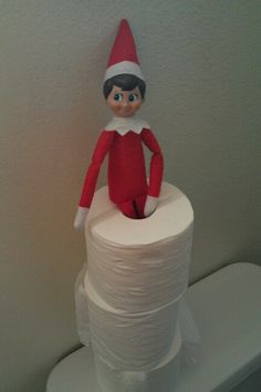 Elf on the Shelf is the topping on the tp.