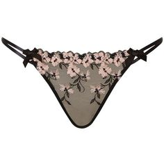 L'Agent by Agent Provocateur Kaity Briefs, Black/Pink (375 MXN) ❤ liked on Polyvore featuring intimates, panties, lingerie, underwear, balcony bra, underwear panties, see through panties, low rise panties and see through pantys - romantic lingerie, mens lingerie, silk lingerie *ad
