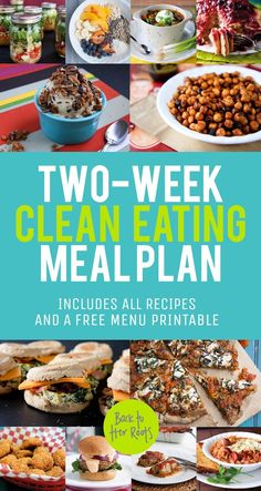 two-week healthy eating meal plan: january 2014 - Back to Her Roots