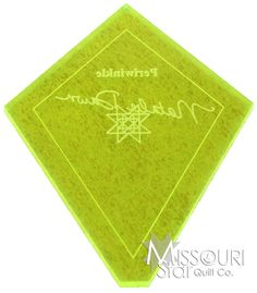 Mini Wacky Web Template from Missouri Star Quilt Co, Use this to make the Periwinkle Block for a quilt.