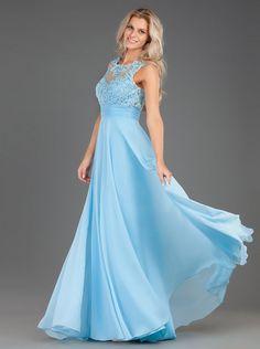 Φόρεμα μακρύ βραδινό με κέντημα στο μπούστο  - Βραδυνά Φορέματα