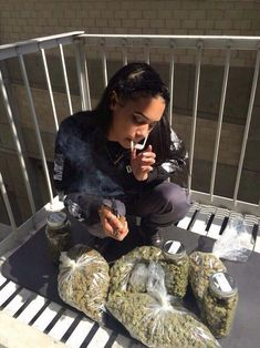 Bae with weed.