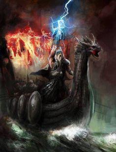 Norse Mythology & Vikings — http://norse-mythology.net/thor-the-god-of-thunder-...
