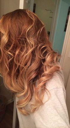 Braun zu Erdbeer Haarfarbe