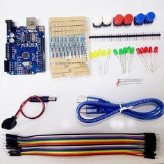 Starter Kit UNO R3 mini Breadboard LED jumper wire button for Arduino  Price: 7.43 USD