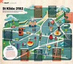 Wesley Valenzuela - St Kilda Map for jetstar magazine