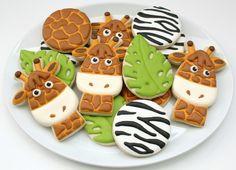 Giraffe and Zebra Platter SweetSugarBelle - the best part is the giraffe cutter!