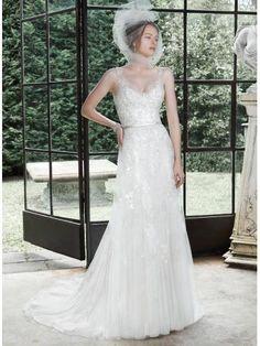 Hala Retro inspirace S hlubokým výstřihem na zádech Svatební šaty 2015