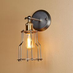 Cage Shade Metal Wall Sconce
