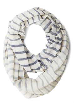 Freshen Your Fashion Circle Scarf. Enliven every ensemble with this striped circle scarf! #cream #modcloth