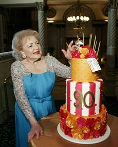 Betty White Birthday Cake Beautiful Cakes Amazing 90th