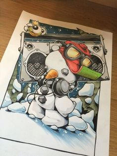 Ongoing pre Christmas shizzle and gubbins. Graffiti Characters, Hip Hop Art, Graffiti Styles, Airbrush Art, Sketch Inspiration, Street Art Graffiti, Cool Drawings, Graphic Illustration, Art Sketches
