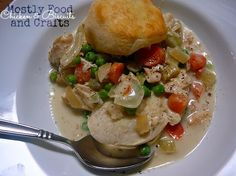 Chicken + Biscuits in the Slow Cooker