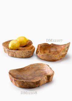 Fir Wood Shallow Bowls
