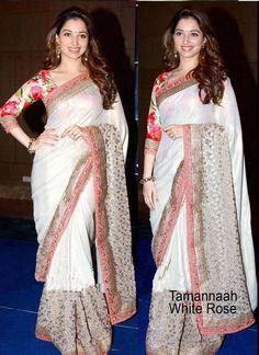 White Net Bollywood Saree  #Bollywood Saree #party wear