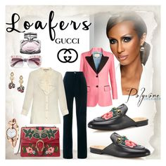 """""""LOAFERS - Gucci"""" by fantasiegirl ❤ liked on Polyvore featuring Iman and Gucci"""