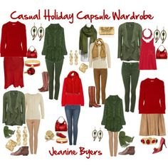 Capsule Wardrobe Examples | The 3-2-1 Holiday Capsule Wardrobe Plan: Go-To Holiday outfits you can ...