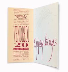 20/10/1989 - Inauguration du Pop Art Café aux Jeux d'Hiver avec un concert des Gipsy Kings. Pages intérieures. Design: C. Brochier Art Café, Rey, Pop Art, Concert, Design, Winter Games, Art Pop, Recital, Concerts