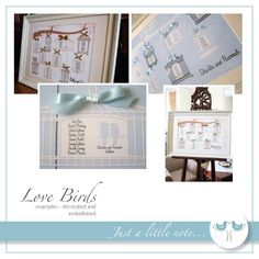 Love Birds Table Plan - Digital Printable File - Diy Wedding Table Seating Plan…