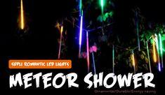 SUPli LED Meteor Shower Lights for Holiday Decoration