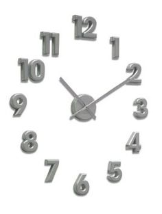 Acctim Numbers Wall Clock in Silver 21757: Amazon.co.uk: Kitchen & Home