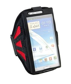"""myLife Apple Red and Basic Black with Flex Mesh {Rain Resistant Velcro Secure Running Armband} Dual-Fit Jogging Arm Strap Holder for Samsung Galaxy Note Edge """"All Ports Accessible"""" myLife Brand Products http://www.amazon.com/dp/B00UGHSWCA/ref=cm_sw_r_pi_dp_nkBhvb12XSRNC"""