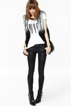 New Arrival Waistcoat Faux Fox Fur Splicing Women Gilet Sleeveless Outwear Coat Vest