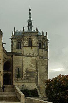 La chapelle Saint-Hubert. Château d'Amboise. Centre