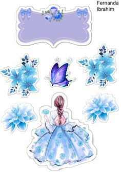 Frozen Cupcake Toppers, Princess Cupcake Toppers, Frozen Cupcakes, Princess Cupcakes, Birthday Cake Toppers, Pin Up Drawings, Little Poney, Anime Stickers, Fairytale Art