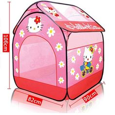 52.99$  Watch now - http://aliovo.shopchina.info/go.php?t=32720371868 - New Arrival Baby toy Tents hello kitty little princess girl baby child tent house game for 0-3 year old birthday gift  #magazineonlinewebsite