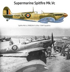 South African Air Force, Supermarine Spitfire, Color Profile, Ww2 Aircraft, Royal Air Force, Wwii, Plane, Aviation, Vintage