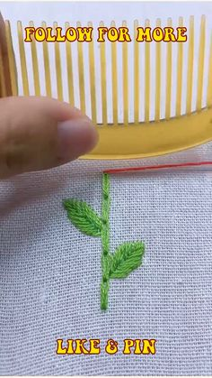 Chain Stitch Embroidery, Hand Embroidery Videos, Embroidery Stitches Tutorial, Hand Embroidery Art, Simple Embroidery, Embroidery Techniques, Embroidery Kits, Handmade Embroidery Designs, Hand Embroidery Patterns Flowers