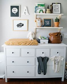 25 smartest and most functional ikea nursery hacks ikea nursery hacks a hemnes dresser by ikea is a nice storage piece and changing table - The world's most private search engine Ikea Nursery, Nursery Room, Girl Nursery, Girl Room, Budget Nursery, Ikea Baby Room, Room Baby, Nursery Shelves, Nursery Wall Decor