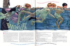 Ladies Home Journal  Illustrated by Al Parker  October 1949