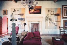 I want to live like this. julian schnabel