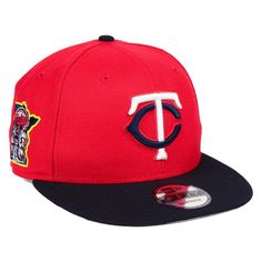 separation shoes c248e 11f8e Minnesota Twins New Era MLB Two-Tone Link 9FIFTY Snapback Adjustable Hat -  Red